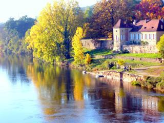 l' Orangerie de la Rebière d'or, au bord de Dordogne