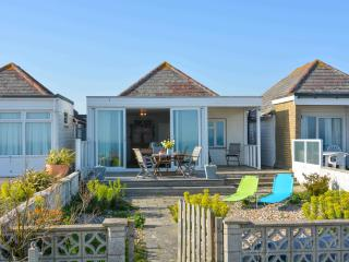 Vintage style seaside cottage on the beach, Sussex, Eastbourne