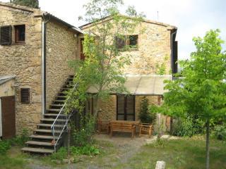 Tipica abitazione rurale toscana con vista mare