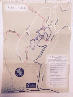 Mount Agamenticus hiking trial map