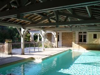The covered swimming pool