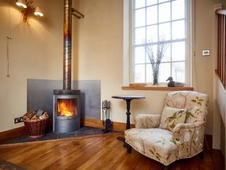 A wood burning stove to warm those winter nights.