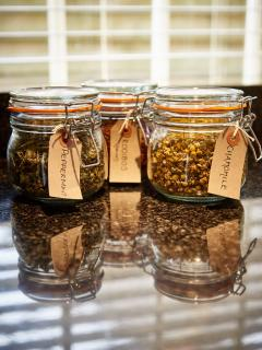 A selection of 6 loose leaf teas for you to try during your stay along with Lavazza coffee.