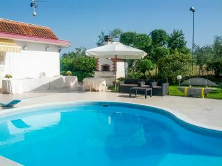 Villa with pool, garden and lawn, 6km from the sea