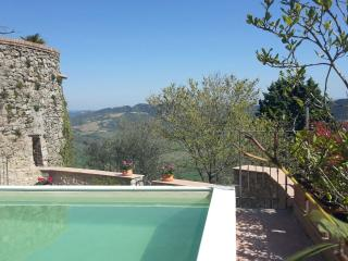 Rustic home Il Torrione, private garden and pool, Radicondoli