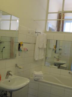 The big bathroom.
