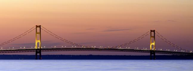 Visit the Mackinaw Bridge it is the fifth longest suspension bridge in the world