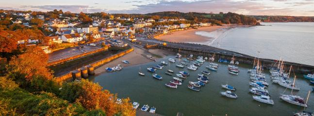 Saundersfoot Harbour - just a ten minute walk away