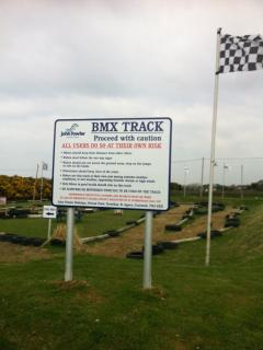 BMX track  --  ideal  for  children  ---  bring your bikes to use here !   -  Great fun !!