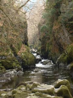 The Fairy Glen Gorge, One of Natures Wonders. Just a short walk away