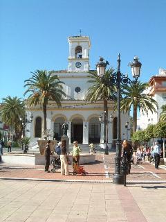 Unspoilt town square