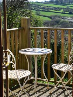 Peaceful balcony overlooking Bodmin Moor