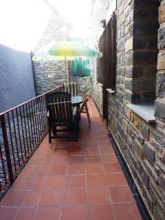 Terraza para uso en no temporada de nieve.