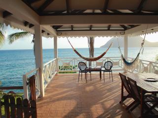 Maison de la Caraibe, sur la mer , jardin prive