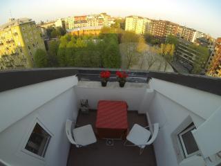 il terrazzino con vista su Milano