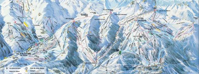 Plan des pistes 180 km avec la liaison avec LA FOUX D'ALLOS