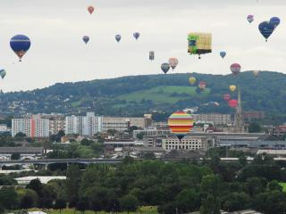 Bristol at it's best - the annual ballon fiesta draws folk from all over the world.