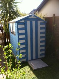Our beach hut garden shed