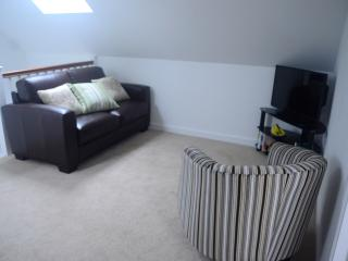 Open plan lounge with television