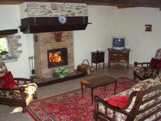 Le Pommier lounge with log fire