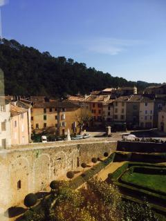 View of village Chateau d'Entrecasteaux