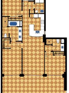 1485 sq ft interior plus a 430 sq ft balcony