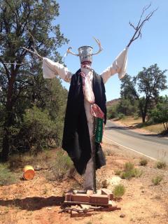 Artistic Sedona scarecrow