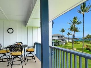 Poipu Sands 222 OCEAN VIEW 2bd/2bath, Pool, tennis courts. Free mid-size car., Koloa