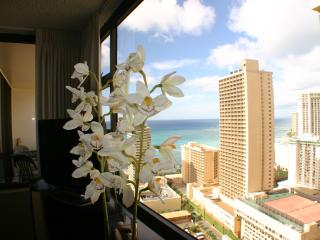 Sweeping Ocean views from prime high floor unit, Honolulu