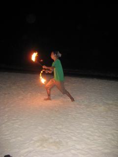 Fire dancer on Station 3, Boracay Island