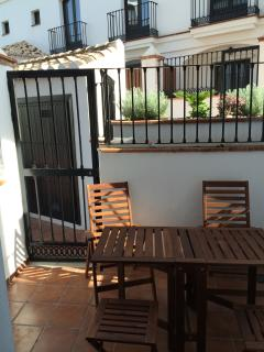Outside furniture for enjoying meals on the terrace