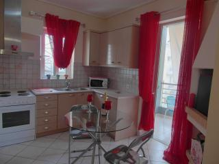 Athens apartment in red