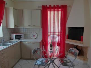 fully equiped kitchen with kitchen,micro,fridge,cuttlery