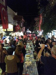 29th.of October, 'Republic Day' festival. Tables on the Long Bazaar and dancing until morning