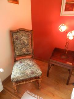 Antique, tapestry chair