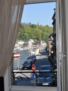 View of the river Rance from the first floor bedroom