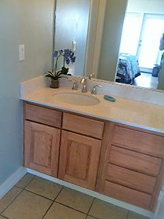 Quartz top master bedroom vanity