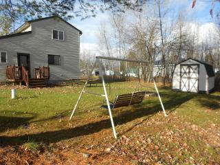 Complete Privacy With No Homes Behind-Bench Swing, Firepit, Picnic Table & Shed