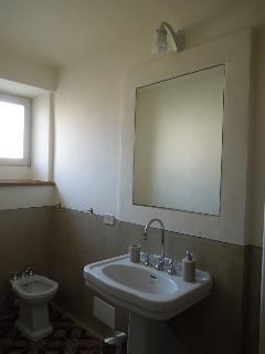 la camera dell'Albicocco - il bagno con doccia