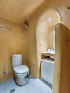The traditional bathroom, carved into earth