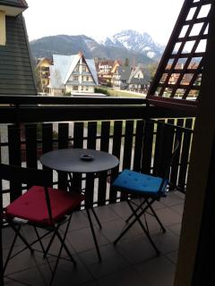 Balcony with the mountain view