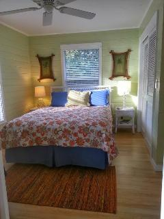 Guest bedroom with sleep number bed and private bath