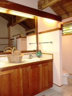 Second bathroom with double vanaty
