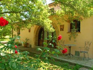 Toskanisches Bauernhaus das in der Mitte des 1800