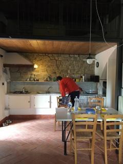 kitchen corner and loft