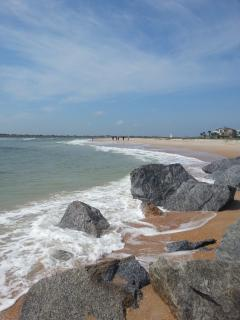 Vilano Beach is a 10 minute drive away & you can drive your car on.