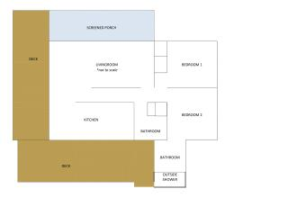 Cottage layout - not-to-scale
