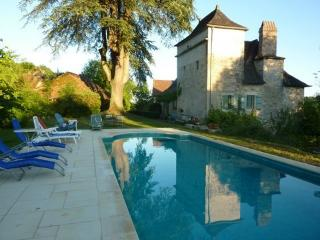 Old domaine near Dordogne 14p, view, heated pool, Cazillac
