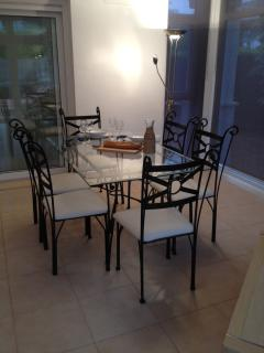 Dining table in evening 1