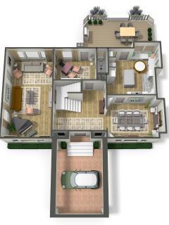 Main floor 3D plan